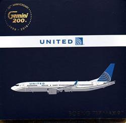 USA Geminijets G2UAL752 United B737 MAX8 N67501 GEMG20752 1:200 Gemini Jets United Airlines Boeing 737 Max 9 Reg N67501 Pre-painted pre-built