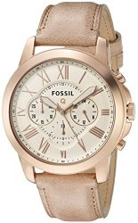 FOSSIL Q Grant Gen 1 Hybrid Sand Leather Smartwatch