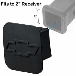 FITS For 2 Inches Chevrolet Chevy Trailer Hitch Cover Sturdy Rubber Receiver Tube Hitch Plug Tow Receiver Tube Plug Cap To Chevy