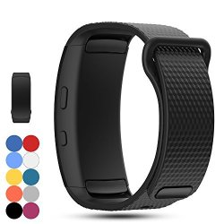 Feskio Samsung Gear Fit 2 Pro fit 2 SM-R360 Replacement Watch Band Strap Accessory Soft Silicone Wristband Strap Sport Band Brac