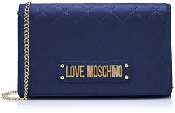 Love Moschino Quilted Nappa Pu Womens Clutch Blue Blu 15X10X15 Cm W X H L