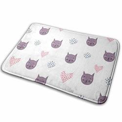 """Yunshm Purple Fox Head Door Mats Non-slip Outdoor Door Mat Entrance Carpet Home Decoration 15.7"""" X 23.5"""
