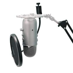 Shock Silver Mount For Blue Yeti And Blue Snowball Mics Eliminates Noises From External Vibration