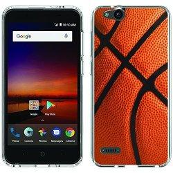 Zte Blade Vantage Case - Basketball Clear Paletteshield Soft Flexible Tpu Gel Skin Phone Cover Fit Zte Blade Vantage Tempo X Avid 4