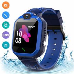 KIDS Waterproof Smart Watch Phone Gps lbs Tracker Smart Watch For For 3-12 Year Old Compatible Ios Android Sos Alarm Clock Smart Watch Christmas
