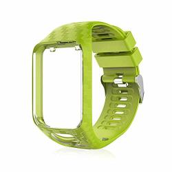 Volwco For Tomtom Watch Strap Silicone Replacement Strap Sport Bracelet For Tomtom Runner 2 3 SPARK SPARK 3 GOLFER 2 ADVENTURER