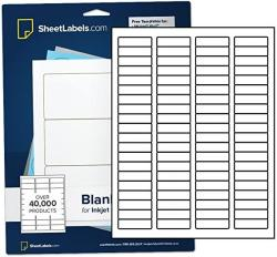 """USA Waterproof Return Address Labels For Laser Printers 1-3 4"""" X 1 2"""" From Sheetlabels.com Easy To Peel 2000 Labels - 25 Sheets"""