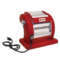 WESTON 01-0601-W Electric Pasta Machine Red