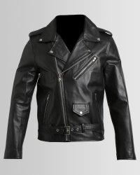 Issa Leo Classic Black Biker Jacket - Small Black