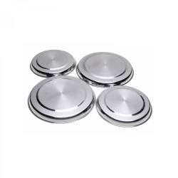 Mainstays 4pc Stainless Steel Stove Plate Covers