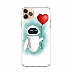 Beamm-frost Compatible With Iphone 11 Pro Max Case Wall-e Eve Heart Balloon Fanart Robots Adventure Animated Movie Pure Clear Phone Cases Cover