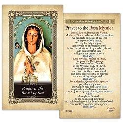 ShopCatholic The Rosa Mystica Laminated Prayer Card