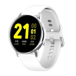SG2 1.2 Inch Amoled Screen Smart Watch IP68 Waterproof Support Music Control Bluetooth Photograph Heart Rate Monitor Blood Pressure Monitoring Silver