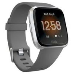 Fitbit Versa Lite Fitness Smartwatch Charcoal And Silver Aluminium