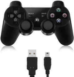 WonderfulDeals.co.za Wireless Blutooth Dualshock With Charging Cable - For PS3