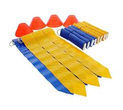 Get Out Get Out American Flag Football Set With Belts Flags Cones For 10 Players Football Scuffle Scrimmage Practice Kit