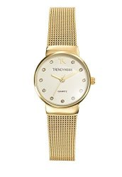 Trendy Kiss TMG10065-07A-LADIES Watch-analogue Quartz-golden Dial-golden Metal Strap