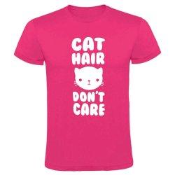 Cat Hair Don&apos T Care T-Shirt - Large