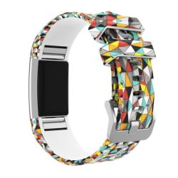Killerdeals Silicone Strap For Fitbit Charge 2 S m l - Color Diamond Pattern