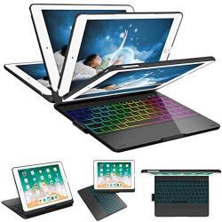 Szilbz Ipad Keyboard Case 9.7 For Ipad 2018 6TH Gen -ipad 2017 5TH Gen -ipad Pro 9.7-IPAD Air 2&1-360 Rotatable & 180 Flip Ultra