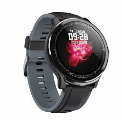 """Smart Watch With 1.3"""" Lcd Full Touch Screen For Android And Ios PHONEIP68 Waterproof Fitness Tracker Watch With Heart Rate Monitor Step Sleep Tracker"""