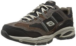 Skechers Sport Men's Vigor 2.0 Trait Memory Foam Sneaker Brown black 7.5 M Us