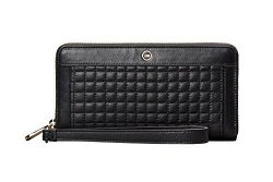 Sena CE Sena Isa Wallet Clutch Leather Cell Phone Case For Iphone 6 7 8 - Black