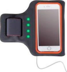 Astrum AB471 LED Powered Mobile Sports Armband Grey|orange