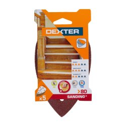 Dexter Delta Sand Wood G80 5pc 140x98for 10 Packs R Power Tools Accessories Pricecheck Sa