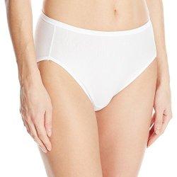Vanity Fair Women's Intimates Vanity Fair Women's Illumination Cotton Hi Cut Panty 13315 Star White X-LARGE 8