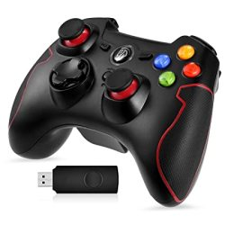 Easysmx 2.4G Wireless Controller For PS3 PC Gamepads With Vibration Fire Button Range Up To 10M Support PC Laptop Android And Tv Box Red