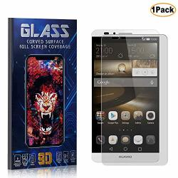 Cusking Huawei Mate 7 Screen Protector Tempered Glass HD Shock Absorbent Screen Protector Film For Huawei Mate 7 Easy Installati