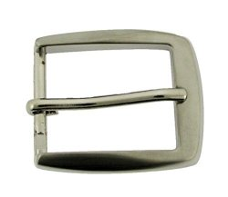 "1 1 4"" 33 Mm Single Prong Belt Buckle Silver Plated Finished Rectangular Shaped"