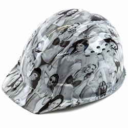 Troy Safety RK-HP34-LADIES Patterned Hard Hat Cap Style With 4 Point Ratchet Suspension Ladies