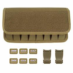 Raiseek Molle 8 Mag Pouch With Cover Pistol Magazine Storage Pouch