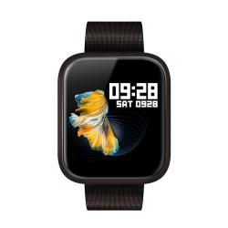 P70 1.3 Inch Ips Color Screen Smartwatch IP68 Waterproof Metal Watchband Support Call Reminder heart Rate Monitoring blood Pressure Monitoring sleep Monitoring blood Oxygen Monitoring Black