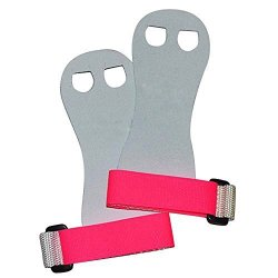 Venus Beginner Soft Hook And Loop Gymnastics Grips. Youth Gymnastic Hand Grip. White pink Small