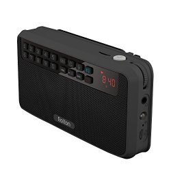 Rolton E500 Portable Stereo Bluetooth Speakers Fm Radio Clear Bass Dual Track Speaker Tf Card USB Music Player Black