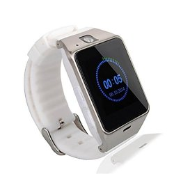 TopePop Sports Bluetooth Smart Watch Anti Lost Sim Card Cellphone Tf Card Slot Wristwatch Phone For Android Cellphones White