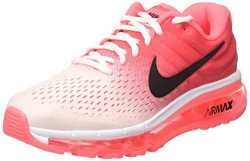 Nike Womens Air Max 2017 Running Shoes 8.5 White black hot Punch