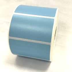 """4 Rolls 2.25 X 1.25 Direct Thermal Labels Light Blue 1000 Labels Per Roll Printer Compatible 1"""" Core"""
