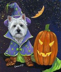 Suzanne Renaud West Highland Terrier Good Witch Garden Flag
