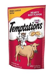 Whiskas Temptations Hearty Beef Flavourtreats For Cats 3-OUNCE Pouches Pack Of 12