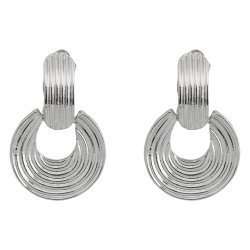 MISS CHIC - Silver Drop Hoop Earring