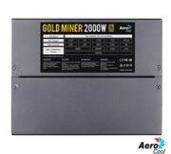 Aerocool Gold Miner 2000W Power Supply Optimized For Mining Systems Up To For 8 Vga Cards -14CM Dual Fan Configuration Constant