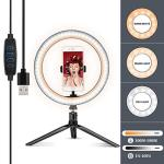 "LED Ring Light 10"" With Tripod Stand &cell Phone Holder For Youtube Video& Streaming Makeup Ring Light Dimmable For Photography"