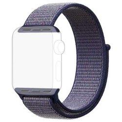 Dark Blue Apple Watch Strap Band Nylon Loop 42 44MM - Series 1 2 3 4