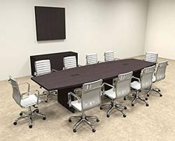 Modern Boat Shaped 12' Feet Conference Table OF-CON-C63