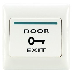 Uxcell No Momentary Push Exit Release Button Switch Panel For Door Access Control Systems