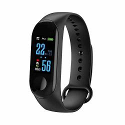 Pqfyds M3 Color Screen Smart Bracelet Activity Tracker Smart Watch Waterproof Smart Bracelet Wristband Fitness Tracker For Android Ios